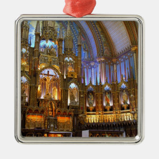 Canada,  Quebec,  Montreal. Interior of Notre Christmas Ornament