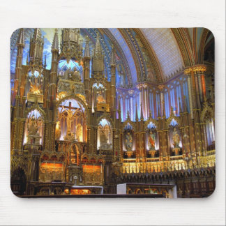 Canada,  Quebec,  Montreal. Interior of Notre Mouse Mat