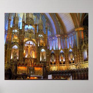Canada,  Quebec,  Montreal. Interior of Notre Poster