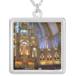 Canada,  Quebec,  Montreal. Interior of Notre Silver Plated Necklace