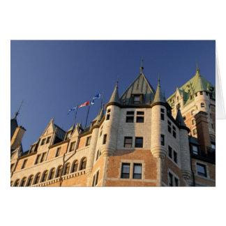 Canada,  Quebec,  Quebec City. Fairmont Chateau Card