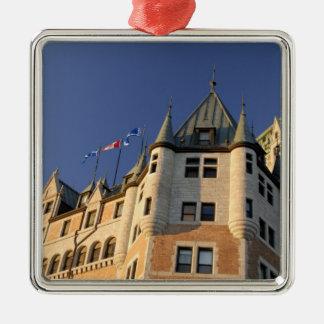 Canada,  Quebec,  Quebec City. Fairmont Chateau Silver-Colored Square Decoration
