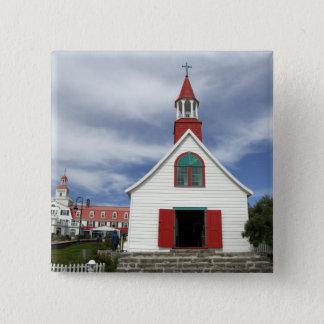 Canada,  Quebec,  Tadoussac. Petite Chapelle, 15 Cm Square Badge