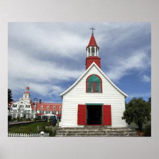 Canada,  Quebec,  Tadoussac. Petite Chapelle, Poster
