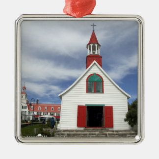 Canada,  Quebec,  Tadoussac. Petite Chapelle, Silver-Colored Square Decoration