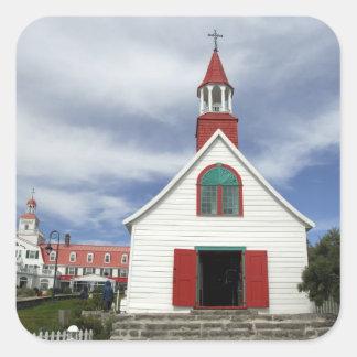 Canada,  Quebec,  Tadoussac. Petite Chapelle, Square Sticker