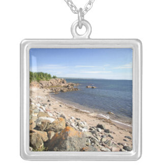 Canada, Quebec. VIA Rail Canada train The 2 Silver Plated Necklace