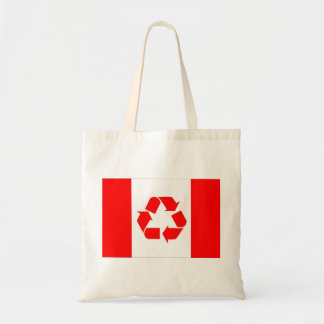 Canada recycle flag bag