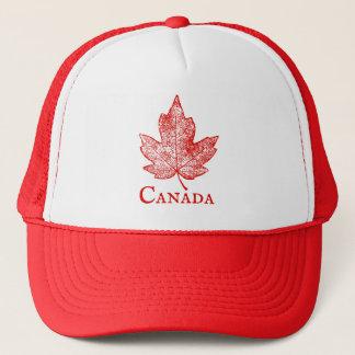 Canada Red Maple Leaf Art Souvenir Trucker Hat