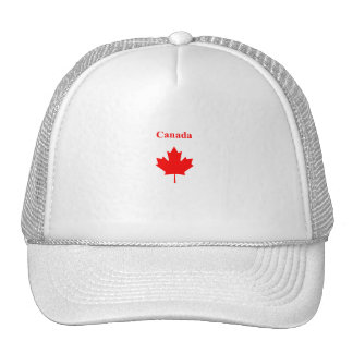 Canada Red Maple Leaf Bold Text Logo Cap