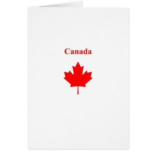 Canada Red Maple Leaf Bold Text Logo Card