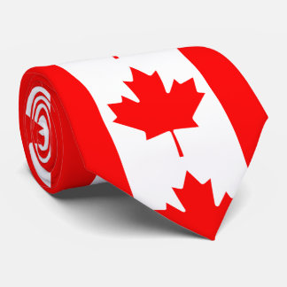 Canada Red Maple Leaf Tie