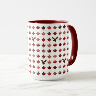 Canada Red Maple Leaves and Moose Mug