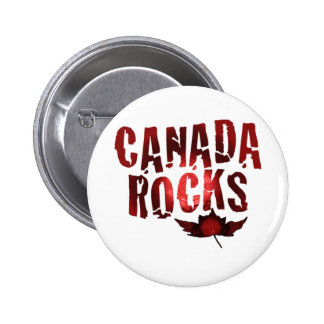 Canada Rocks 6 Cm Round Badge
