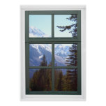 Canada Rocky Mountains Faux Window View