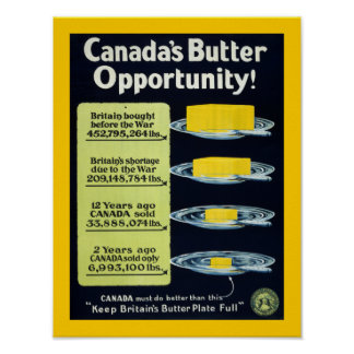 Canada s Butter Opportunity border Posters