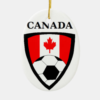 Canada Soccer Ceramic Oval Decoration