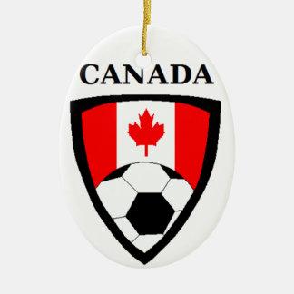 Canada Soccer Christmas Ornament