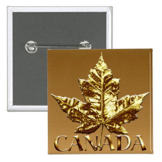 Canada Souvenir Button Gold Canada Buttons Gifts