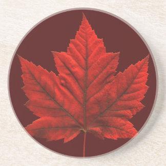 Canada Souvenir Coaster Maple Leaf  Canada Gifts
