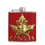 Canada Souvenir Flask Gold Medal Canada Flask