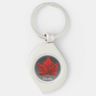 Canada Souvenir Key Chain White Maple Leaf Gifts