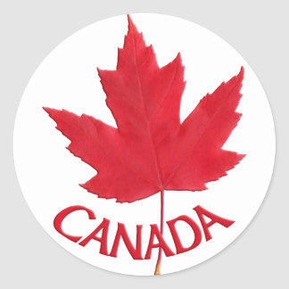Canada Souvenir Stickers Red Maple Leaf Stickers