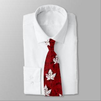 Canada Souvenir Tie Red Retro Mapleleaf Canada Tie
