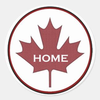 Canada Sticker:  Maple Leaf Classic Round Sticker