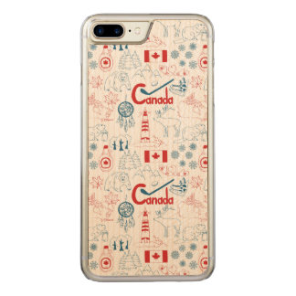 Canada | Symbols Pattern Carved iPhone 8 Plus/7 Plus Case