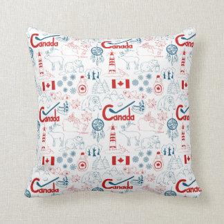 Canada | Symbols Pattern Cushion