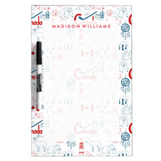 Canada | Symbols Pattern Dry-Erase Whiteboards