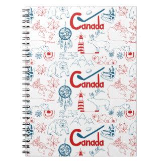 Canada   Symbols Pattern Notebooks