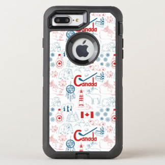 Canada | Symbols Pattern OtterBox Defender iPhone 8 Plus/7 Plus Case