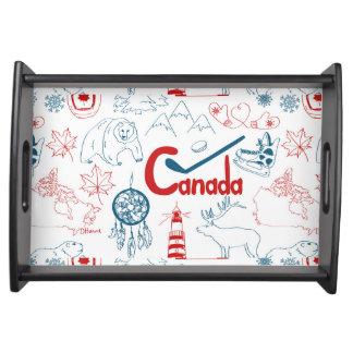 Canada   Symbols Pattern Serving Tray