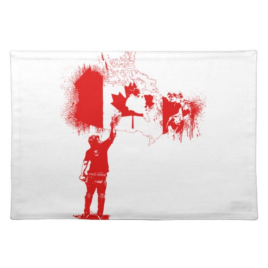 Canada Tagger Red Placemats