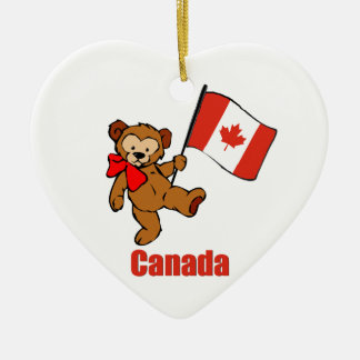 Canada Teddy Bear Christmas Ornament