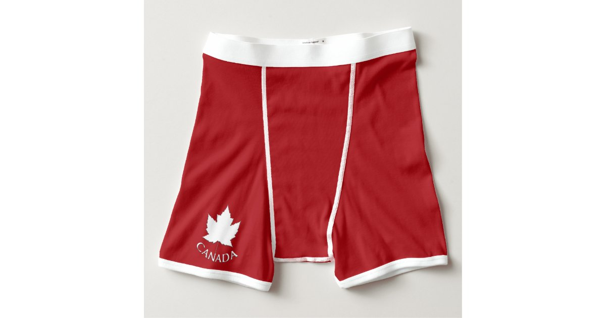 Canada underwear men 39 s canada boxers briefs custom zazzle for Zazzle custom t shirts
