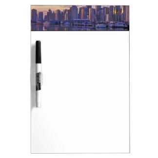 Canada, Vancouver, British Columbia. Vancouver Dry Erase Board