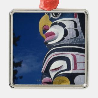 Canada, Vancouver, Stanley Park, totem pole, Silver-Colored Square Decoration