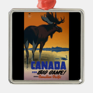 Canada Vintage Travel Poster Christmas Ornament