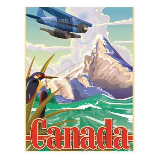 Canada Vintage Travel poster Postcard
