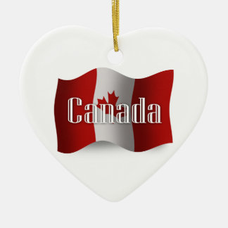 Canada Waving Flag Christmas Ornament