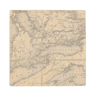 Canada West Upper Wood Coaster