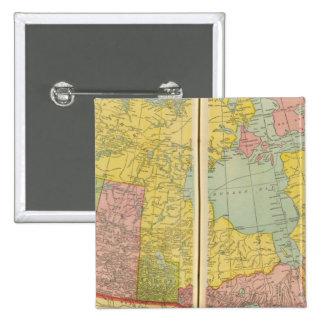 Canada with railroads 15 cm square badge