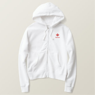 Canada Zip Hoodie - Red Canada Maple