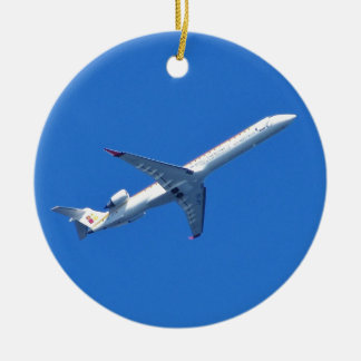 Canadair CL-600 In Flight Christmas Ornament
