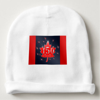 Canada's 150th Maple Leaf & Fireworks Celebration Baby Beanie