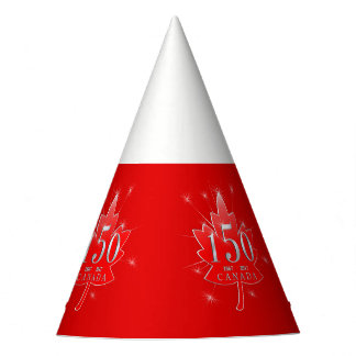 Canada's 150th Maple Leaf & Fireworks Celebration Party Hat