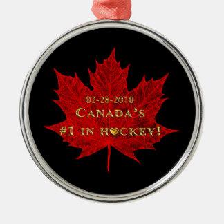 Canada's #1 in Gold-Hockey Ornament